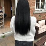 woman with long straight dark hair