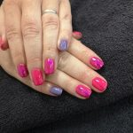 pink and purple gel nails