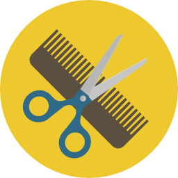 Comb and scissors